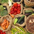 Stock Photo: Assortment Organic food