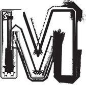 Fuentes grunge — Vector de stock