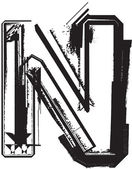 Font grunge — Vettoriale Stock