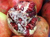 Pomegranate fruit background — Stock Photo