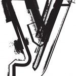 Grunge font — Stock Vector #9852885