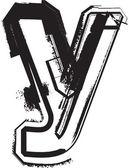 Grunge font — Stock Vector