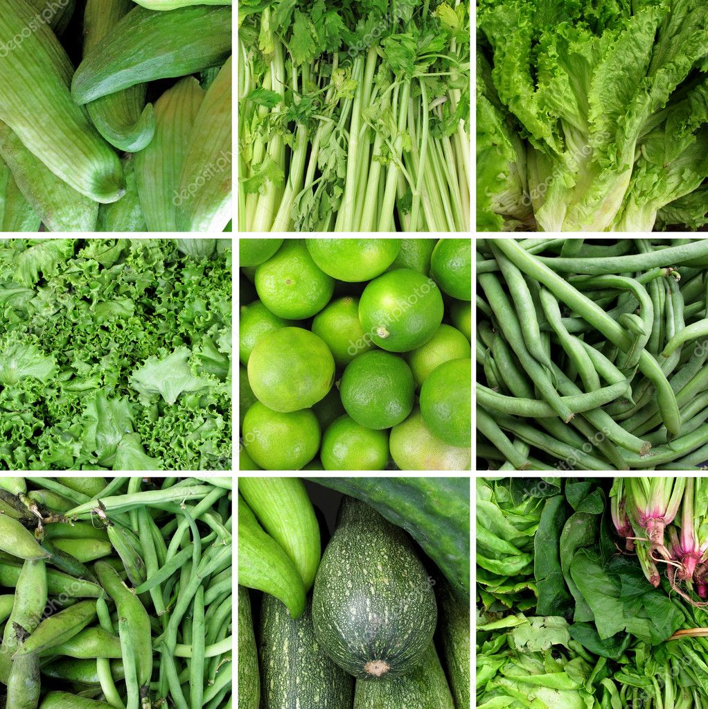 Group of green vegetable — Stock Photo #9865950
