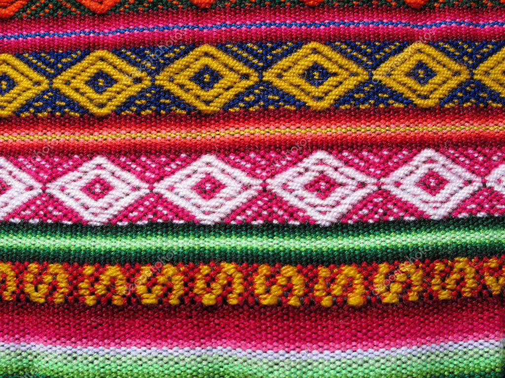 Tejidos indios de am rica del sur foto de stock aroas for Telas del sur