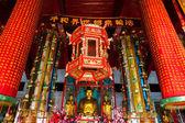 Wewnątrz chińskiej świątyni buddyjskiej — Zdjęcie stockowe