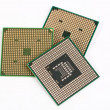 Foto Stock: Three laptop processors