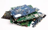 Laptop motherboards composition — Stock Photo