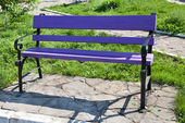 Violet bench — Stock Photo