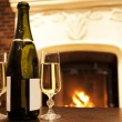 Fire and Champaign — Stock Photo #9029914