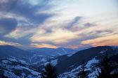 Zachód słońca karpat — Zdjęcie stockowe