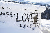 Love on the snow — 图库照片