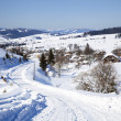 Winter road in the village — Stock Photo #9217769