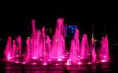 Fontanna na nocy — Zdjęcie stockowe