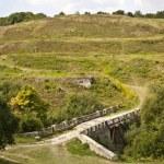 drodze w pobliżu Zamek Khotyn — Zdjęcie stockowe