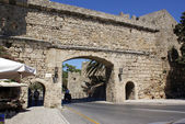 City Wall of Rhodes — Stock Photo