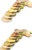 Iisolated Coins euro — Stock Photo