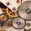 Foto Stock: Macro photo of the mechanism of a watch