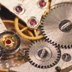macro foto van het mechanisme van een horloge — Stockfoto