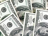 Heap from dollars — Stock Photo