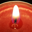 Royalty-Free Stock Photo: Red candle closeup