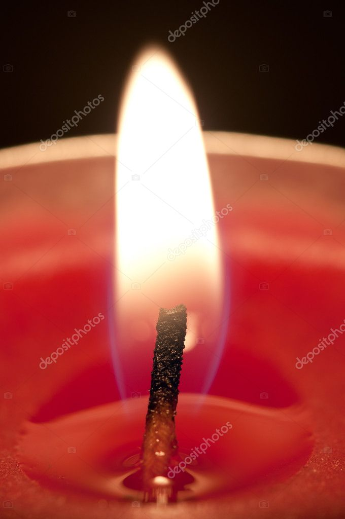 Close-up of a red candle  Foto Stock #10313247