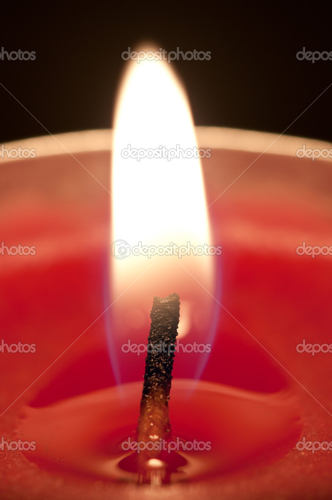 Close-up of a red candle  Stockfoto #10313247