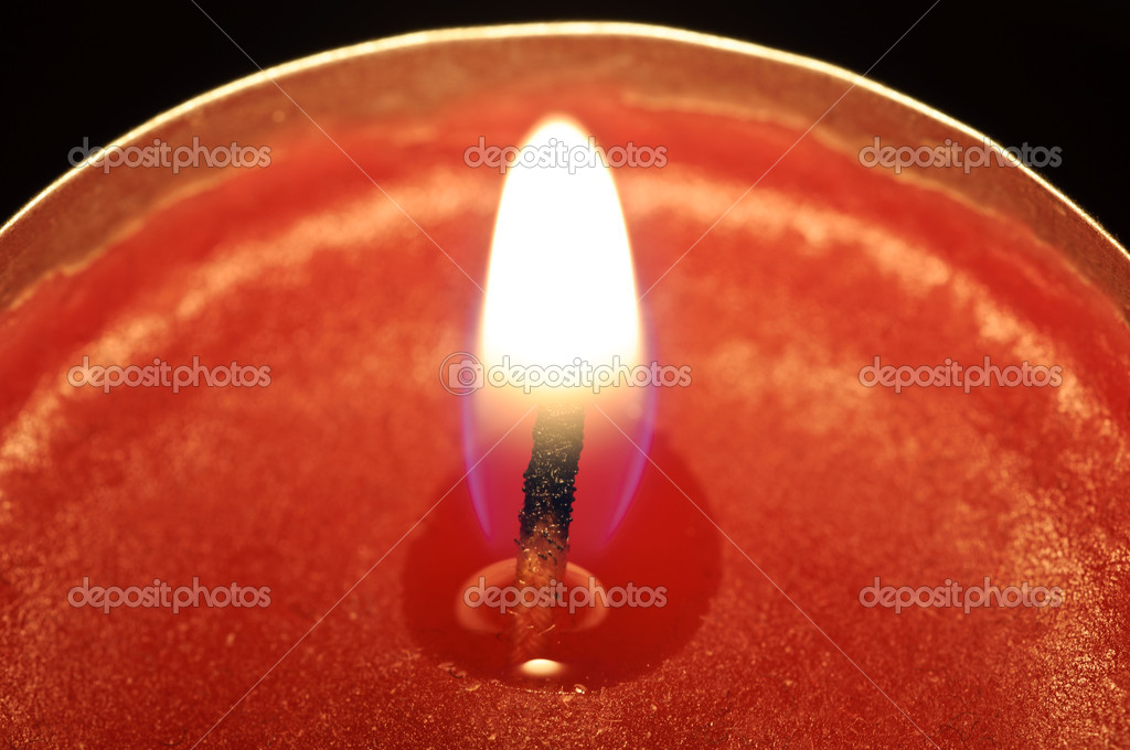 Close-up of a red candle — Stock Photo #10313256
