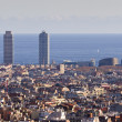 Barcelona city view, Spain. — Stock Photo