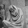 Sad man sculpture at Sagrada Familia — ストック写真