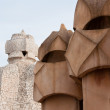 Stock Photo: CasMilà - Chimney Detail - Barcelona, Spain.