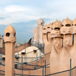 Stock Photo: CasMilà - Roof Architecture - Barcelona, Spain.