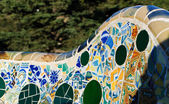 Parc Guell bench detail — Stock Photo