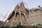 Sagrada Familia cathedral outdoor view — Stock Photo