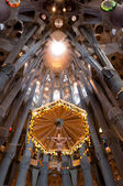 Sagrada Familia cathedral interior — Stock Photo
