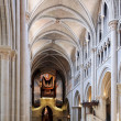 Cathedral nave in Lausanne — Stock Photo
