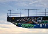 Structure with graffiti — Stock fotografie