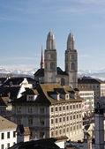 Grossmuenster in Zurich — Stock Photo