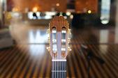 голова грифа гитары — Стоковое фото