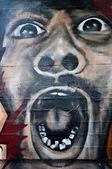 Faccia di graffiti — Foto Stock