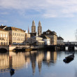 Zurich old city reflecting in river — Stock Photo #8923902