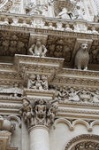 Column detail - Lecce Basilica — Stock Photo