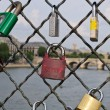 Padlocks in Paris — Foto Stock