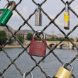 Padlocks in Paris — Stockfoto