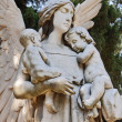 Angel with two little childs — Stock Photo #9807138