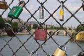 Padlocks in Paris — Stock Photo