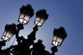 Street lamps silhouette — Stock Photo