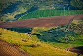 Landscape with fields — Stock Photo