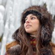 Young woman outdoor in winter — Stock fotografie #10728134