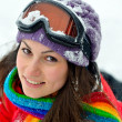 Young woman outdoor in winter — Foto de Stock