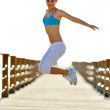 Young woman jogging outdoor — Stock Photo #10728532